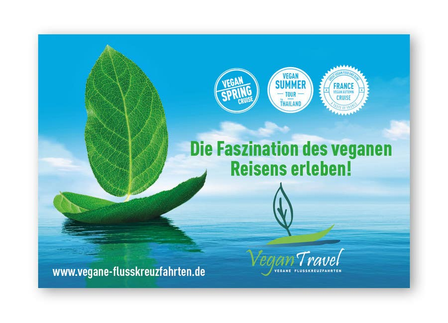 Contest Entry 36 For Design A COOL Vegan Travel Advertisement