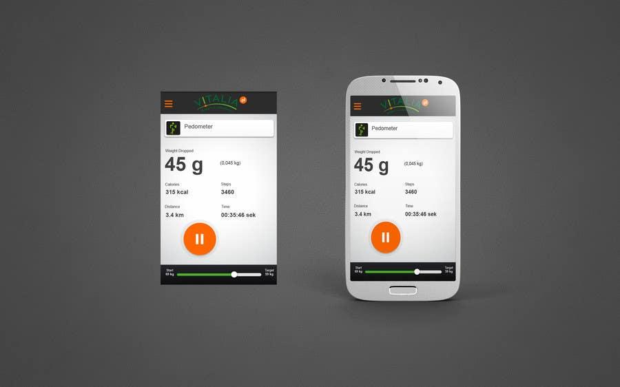 "#5 for Design for mobile app ""Vitalia tracker"" (design only) by tutunjieva"