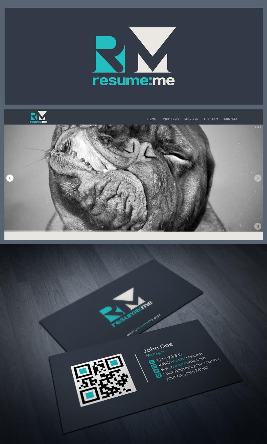 #100 for Logo and Business Card for Resume:Me by HammyHS