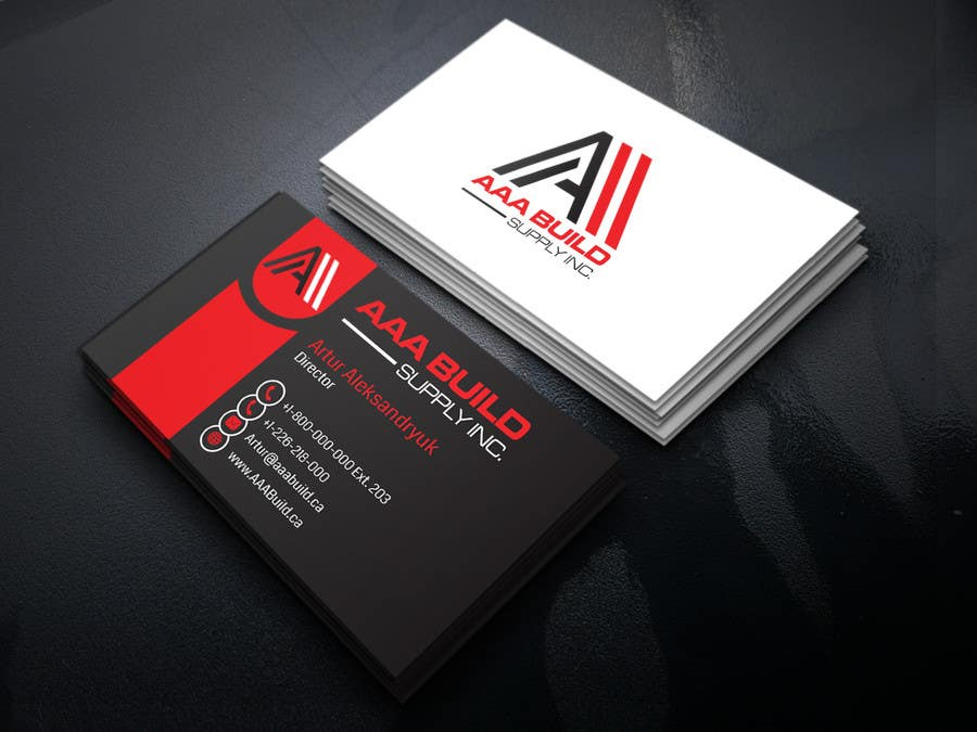 Entry #88 by ALLHAJJ17 for Design Business Card For AAA Build Supply ...