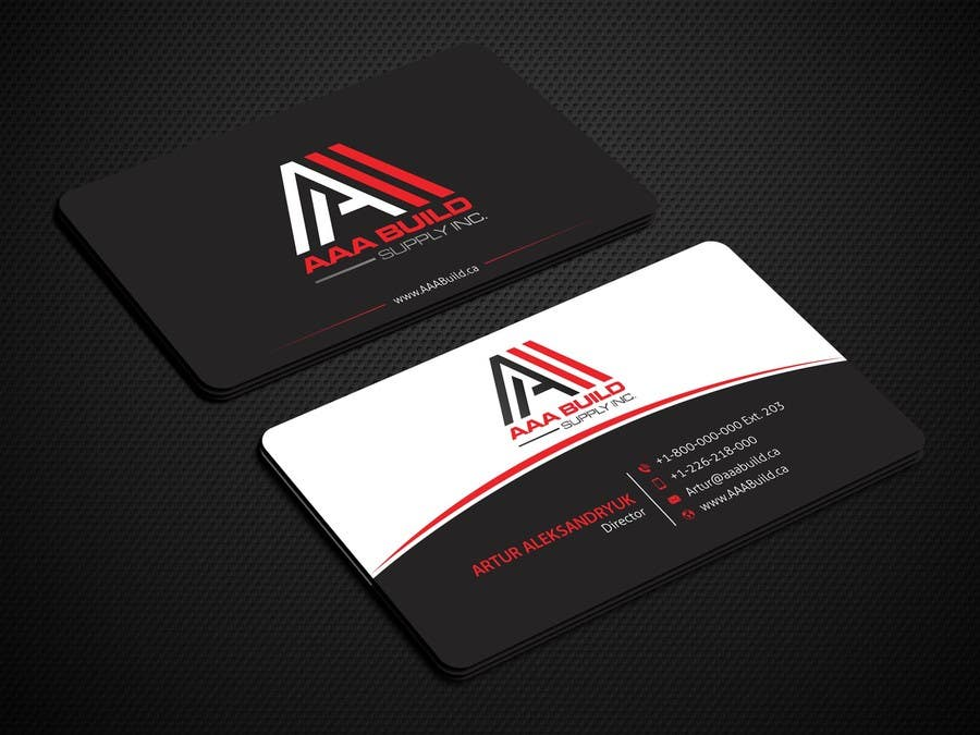 Entry #112 by amamun4567 for Design Business Card For AAA Build ...