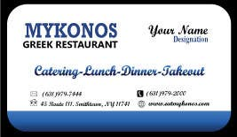 #20 for Design some Business Cards for Mykonos Greek Restaurant by designfrenzy