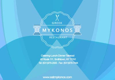 Graphic Design Contest Entry #26 for Design some Business Cards for Mykonos Greek Restaurant
