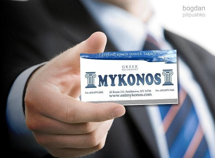 Inscrição nº 29 do Concurso para Design some Business Cards for Mykonos Greek Restaurant
