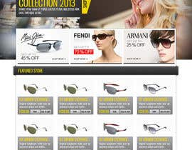 dilip08kmar tarafından Design a Website Mockup for Eyeglass website için no 8
