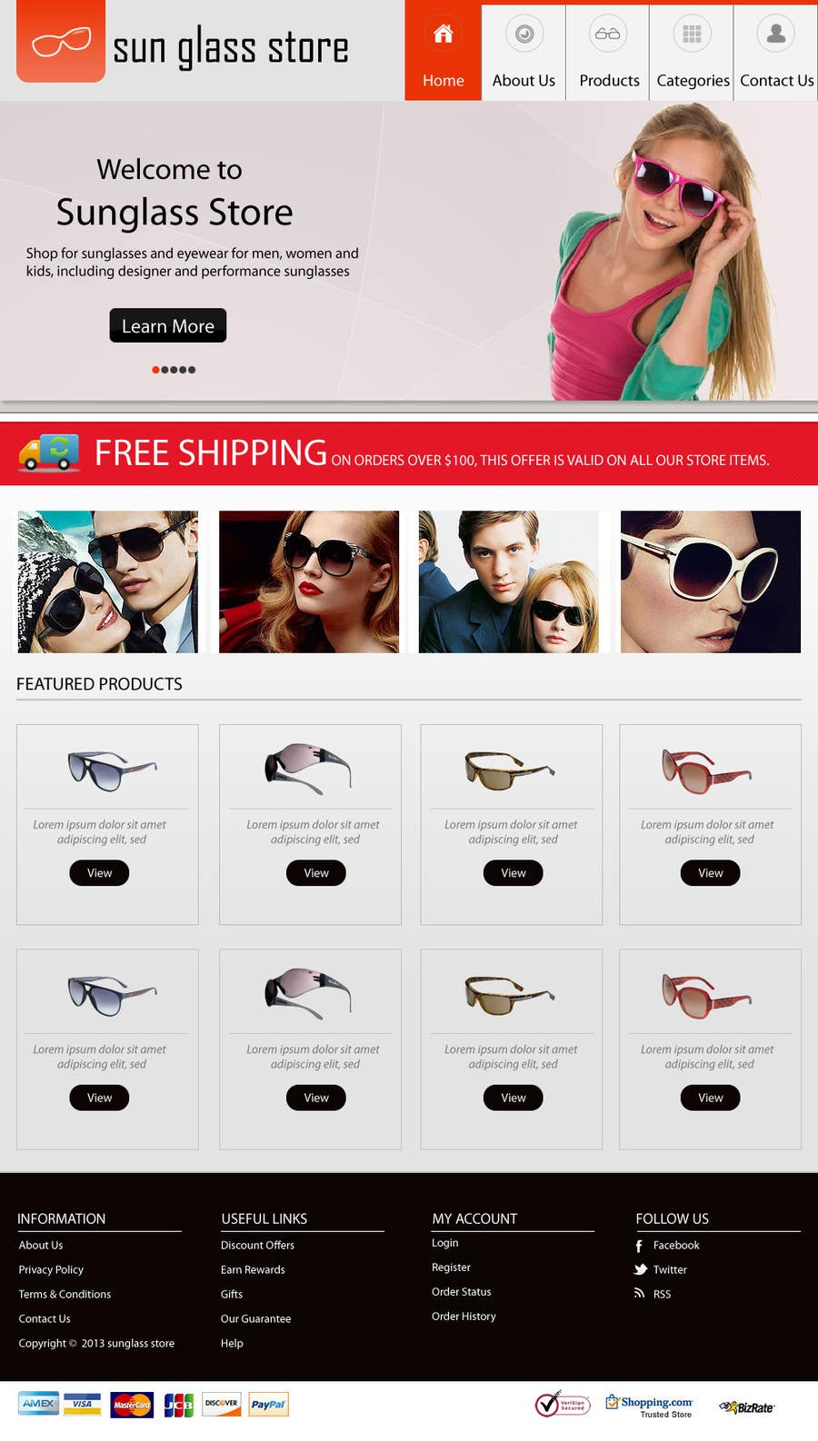 Kilpailutyö #10 kilpailussa Design a Website Mockup for Eyeglass website