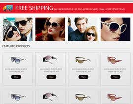 #10 para Design a Website Mockup for Eyeglass website por dilip08kmar