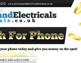 #54 untuk Design a Banner for Phonesandelectricalsforsale.co.uk oleh mayerdesigns