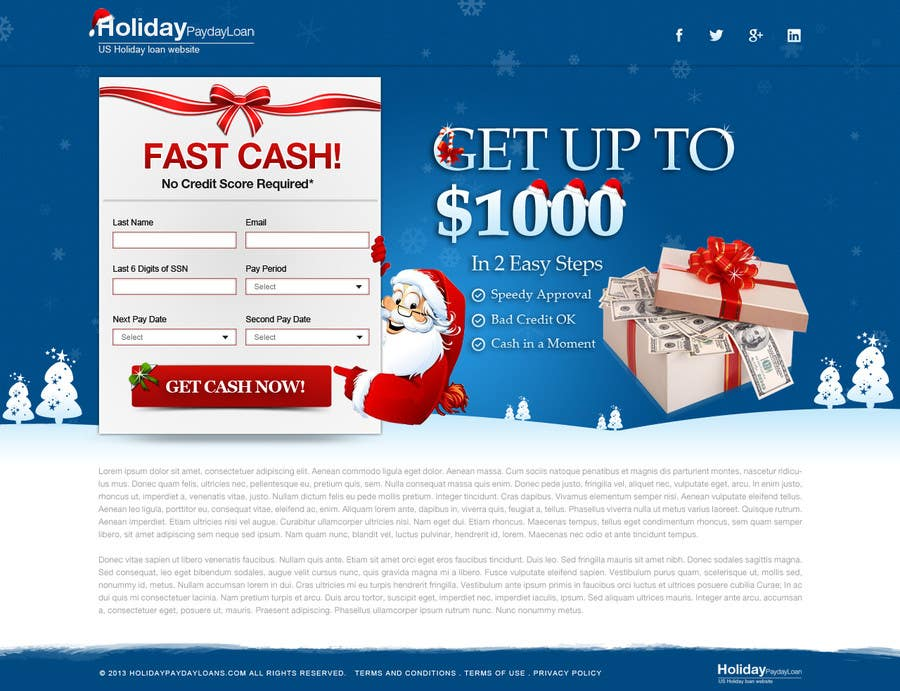 #44 for Design Landing Page #1 Shopping Product In 2013 Shopping Season In USA... Can you design better than Santa Claus? by herick05