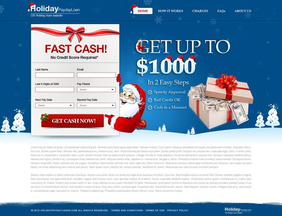 Penyertaan Peraduan #51 untuk Design Landing Page #1 Shopping Product In 2013 Shopping Season In USA... Can you design better than Santa Claus?