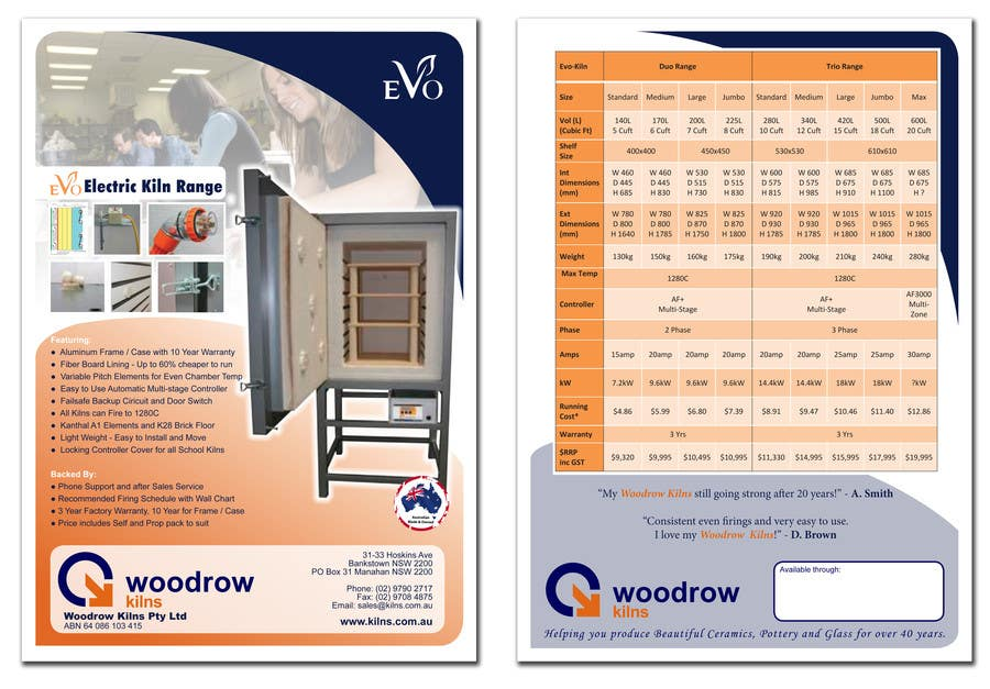 #23 for Design 2 Brochure /  Flyers based on our new theme. 2 Side A4 & Trifold A4 by mcabalda