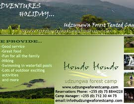 #25 untuk Design a Advertisment for Udzungwa Forest Tented Camp oleh nandhakumar0711