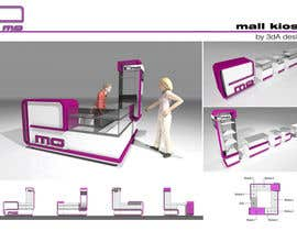 #31 cho Do 2D/3D Redesign of Mall Kiosk bởi FoamBubbles