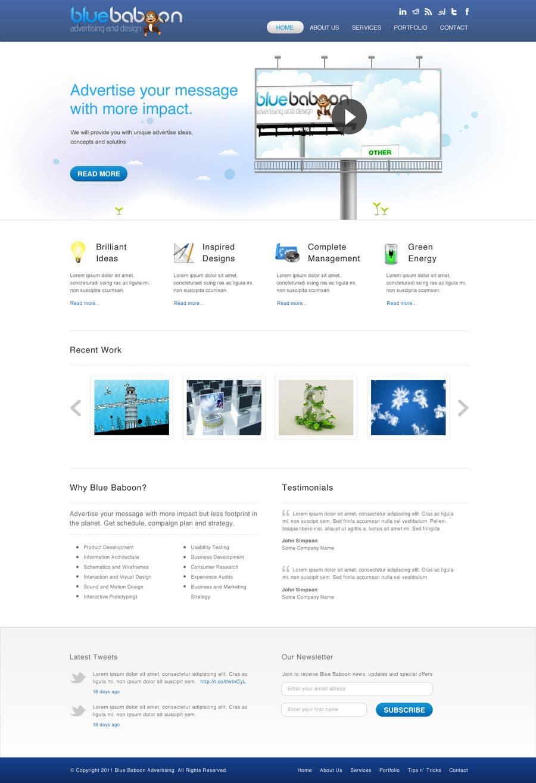 Inscrição nº                                         69                                      do Concurso para                                         Wordpress Theme Design for Blue Baboon Advertising