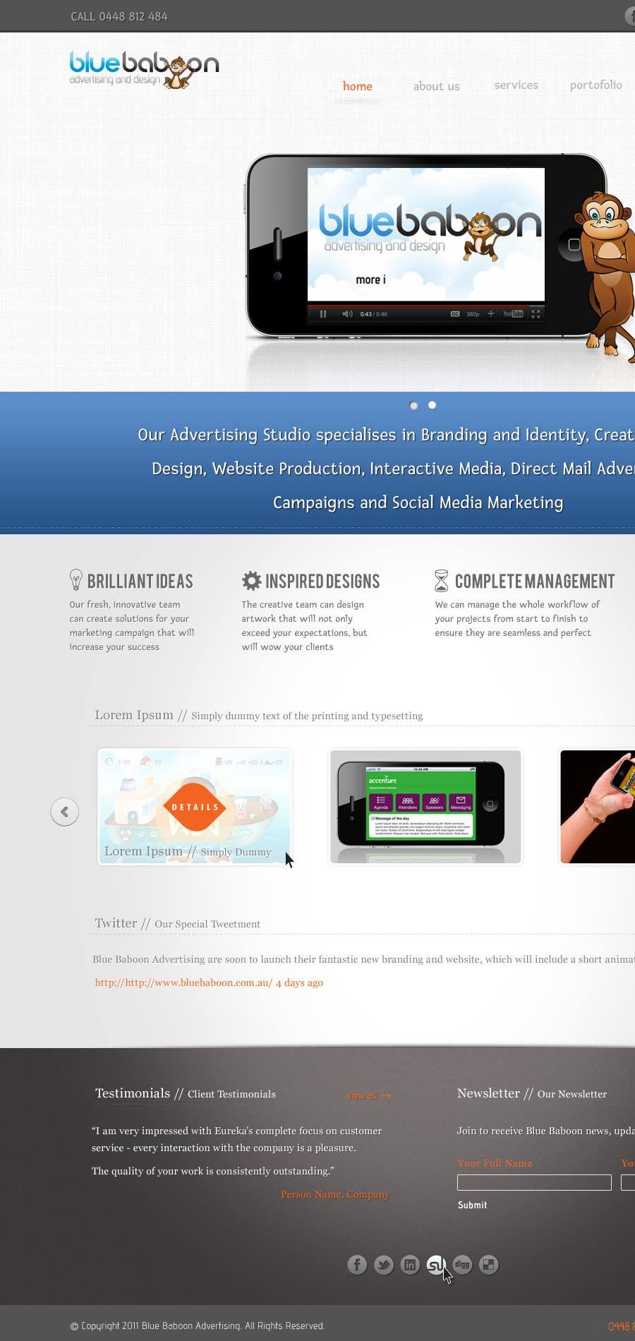 Inscrição nº                                         9                                      do Concurso para                                         Wordpress Theme Design for Blue Baboon Advertising