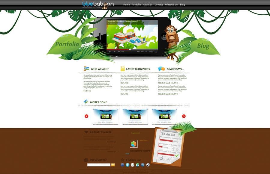 Inscrição nº                                         16                                      do Concurso para                                         Wordpress Theme Design for Blue Baboon Advertising