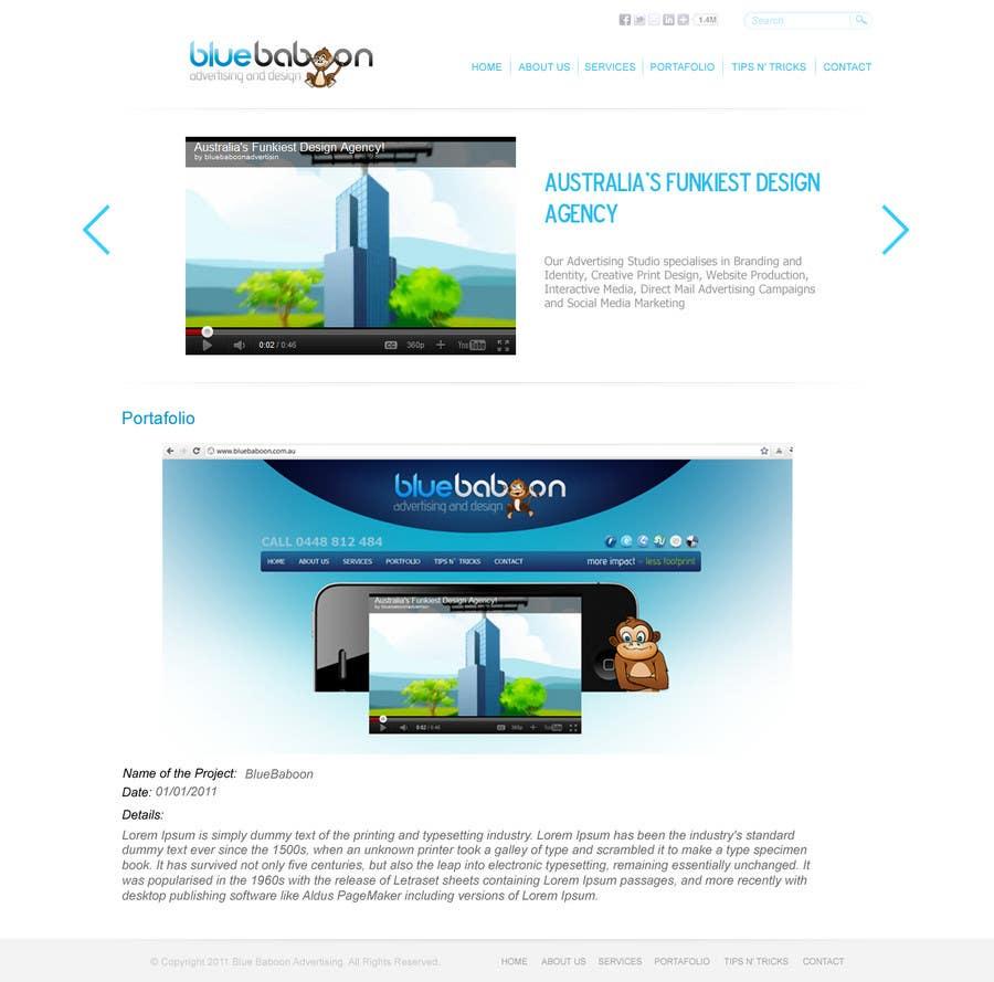 Inscrição nº                                         72                                      do Concurso para                                         Wordpress Theme Design for Blue Baboon Advertising
