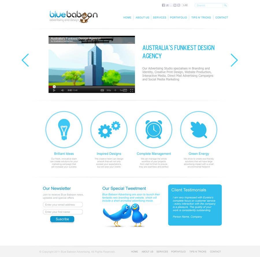 Inscrição nº                                         70                                      do Concurso para                                         Wordpress Theme Design for Blue Baboon Advertising