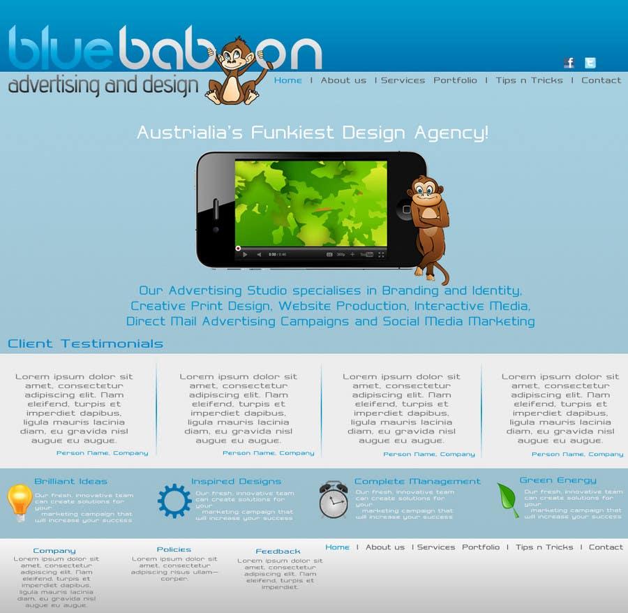 Inscrição nº                                         37                                      do Concurso para                                         Wordpress Theme Design for Blue Baboon Advertising