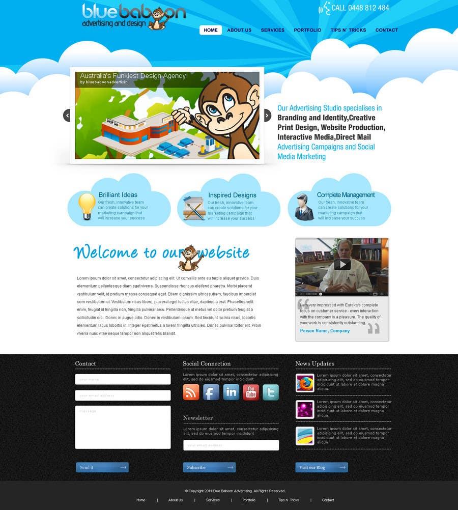 Inscrição nº                                         45                                      do Concurso para                                         Wordpress Theme Design for Blue Baboon Advertising