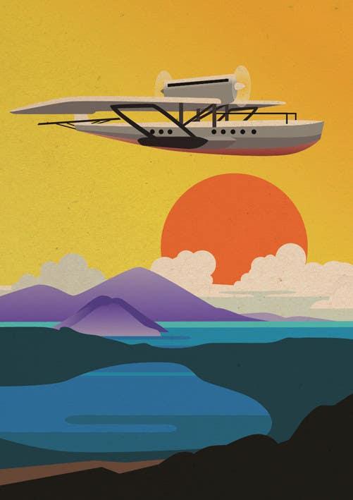 #18 for Design retro travel poster by sophialotus