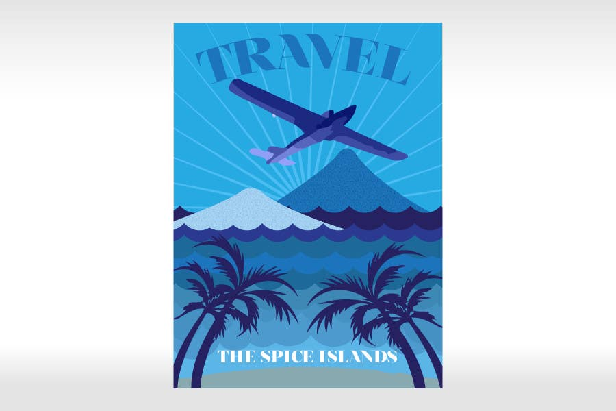 #12 for Design retro travel poster by pupster321