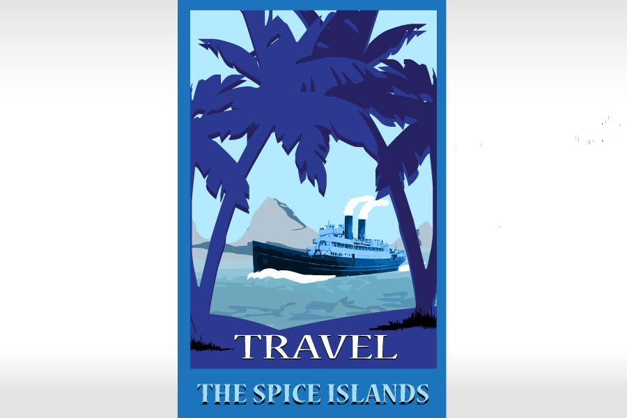 #23 for Design retro travel poster by pupster321