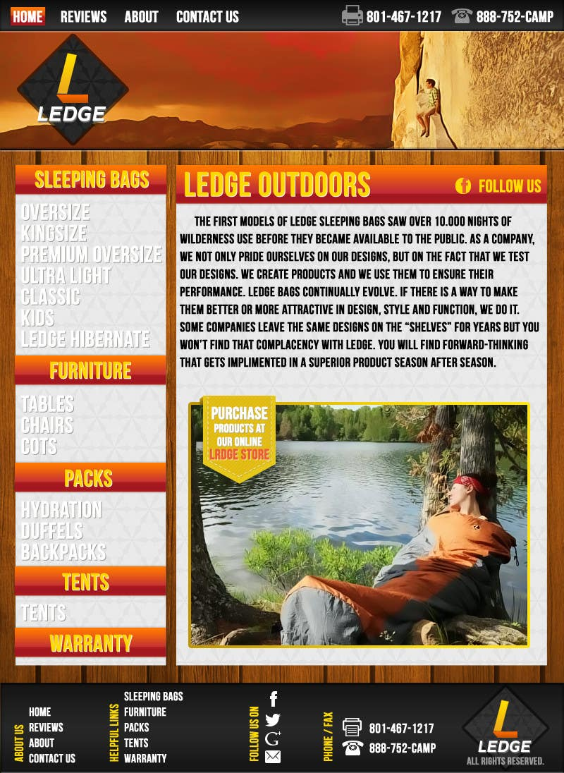 Penyertaan Peraduan #16 untuk Design a Website Mockup for Ledge Sports