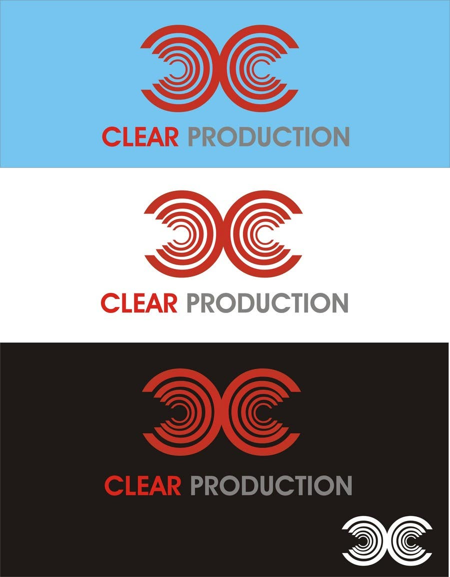 """Contest Entry #                                        1384                                      for                                         Logo Design for """"CLEAR PRODUCTION"""" - Recording a mixing studio in Copenhagen"""