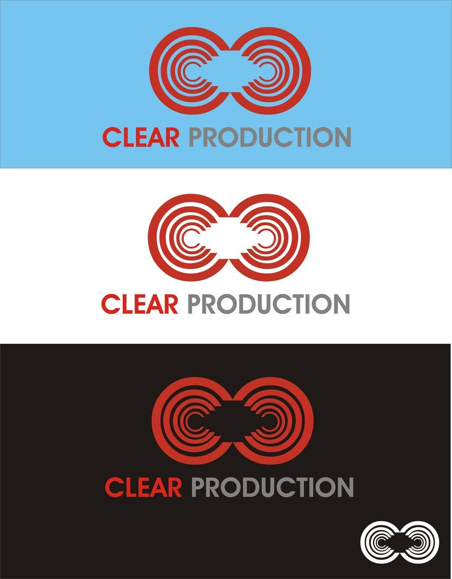 """Contest Entry #                                        1383                                      for                                         Logo Design for """"CLEAR PRODUCTION"""" - Recording a mixing studio in Copenhagen"""