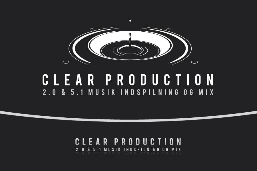 "Proposition n°                                        801                                      du concours                                         Logo Design for ""CLEAR PRODUCTION"" - Recording a mixing studio in Copenhagen"