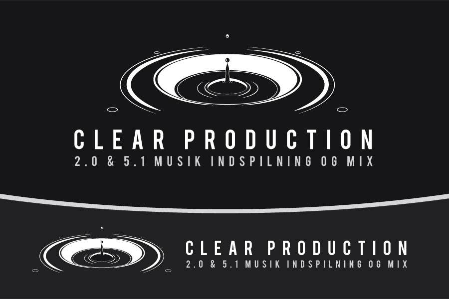 """Contest Entry #                                        873                                      for                                         Logo Design for """"CLEAR PRODUCTION"""" - Recording a mixing studio in Copenhagen"""