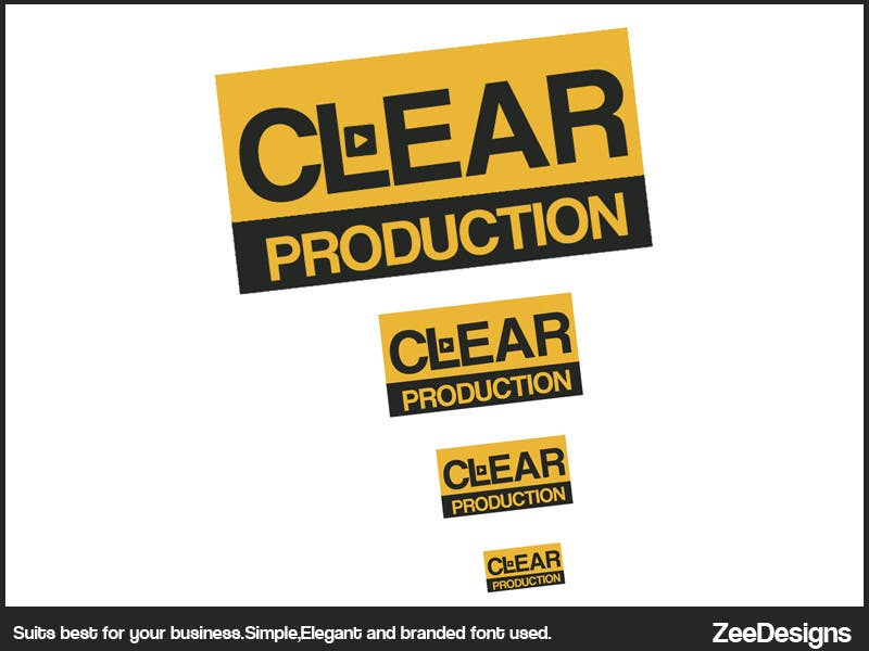 """Contest Entry #                                        601                                      for                                         Logo Design for """"CLEAR PRODUCTION"""" - Recording a mixing studio in Copenhagen"""