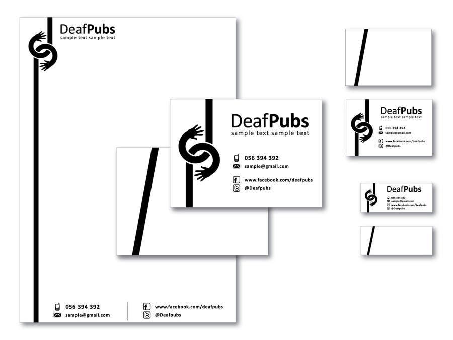 Inscrição nº                                         9                                      do Concurso para                                         Design some stationary for Deaf Pubs