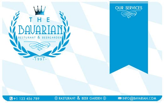 #20 for Design a Menu and Business Card for a Bavarian Restaurant and Beer Garden by SubodhStha