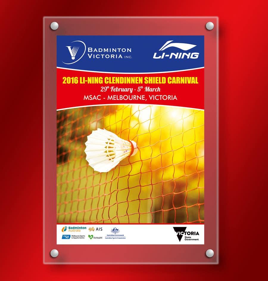 Конкурсная заявка №8 для Design A Badminton Tournament Poster