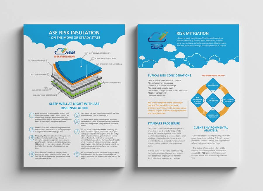 Design a single a4 double sided brochure freelancer for Double sided brochure template