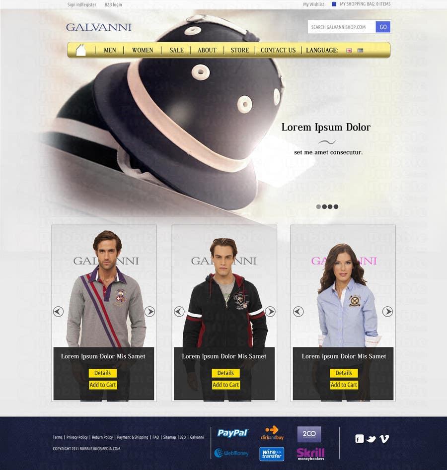 Inscrição nº 45 do Concurso para Website Design for Galvanni