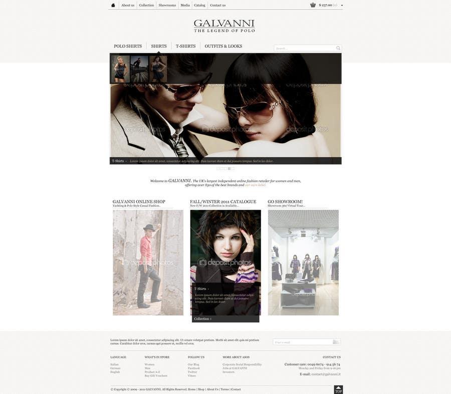 Inscrição nº 25 do Concurso para Website Design for Galvanni