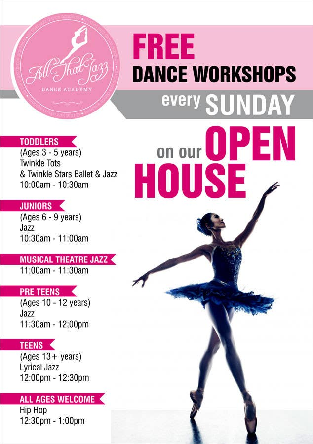 Entry #111 by adsis for Open House Flyer for Dance Studio | Freelancer