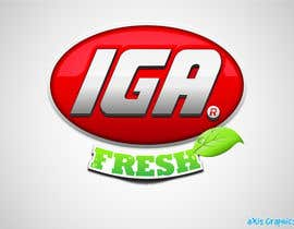 #143 cho Logo Design for IGA Fresh bởi arunbluez