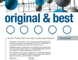 #52 untuk Design an Advertisement for Roofshield 2 oleh echobravo