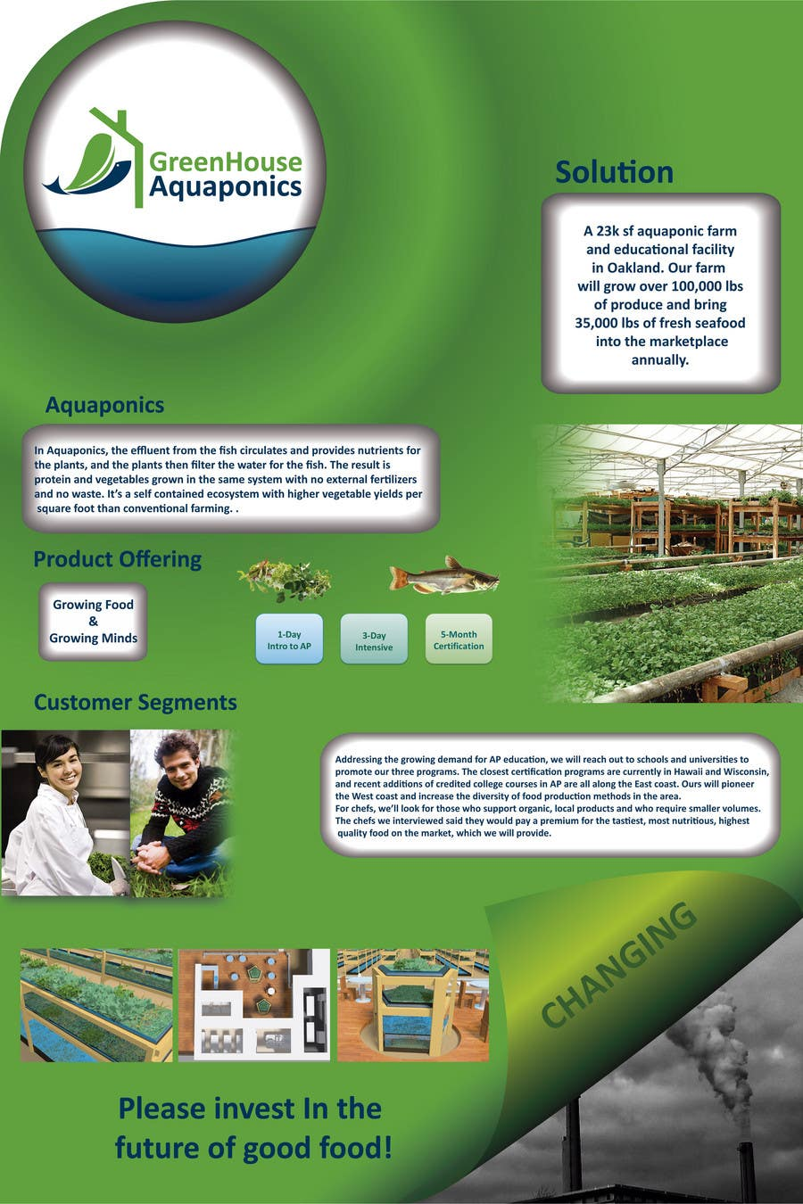 Contest Entry #29 for Business Poster for Green House Aquaponics