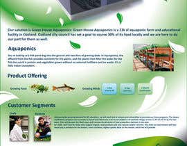 #22 pentru Business Poster for Green House Aquaponics de către HappyStudio
