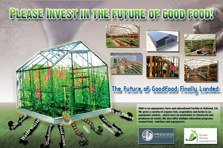Contest Entry #                                        32                                      for                                         Business Poster for Green House Aquaponics