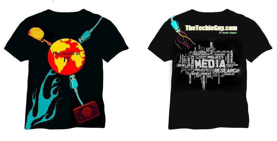 Contest Entry #8 for T-shirt Design for TheTechieGuy.com