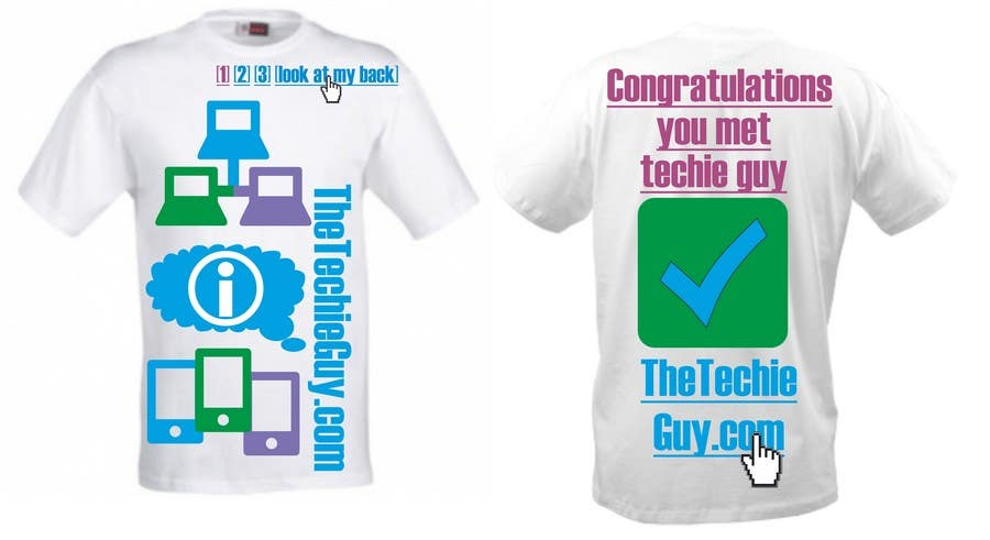 Contest Entry #58 for T-shirt Design for TheTechieGuy.com