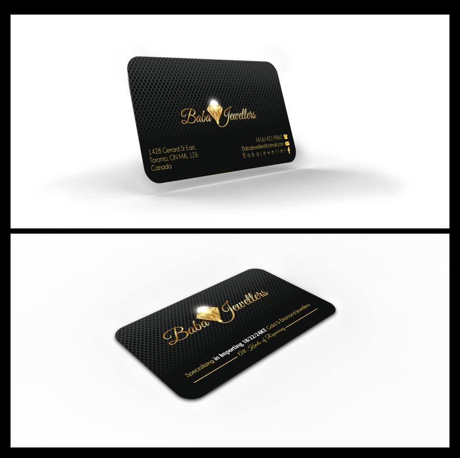 design some business cards for jewelry store freelancer