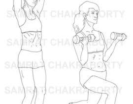 #8 for Illustrations required for Weight Training Exercises in eBook by samrat66