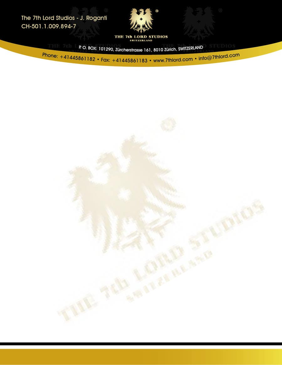 #39 for Letterhead paper for The 7th Lord Studios by blacklist08